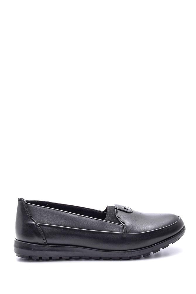 Siyah Kadın Deri Ayakkabı 5638087116