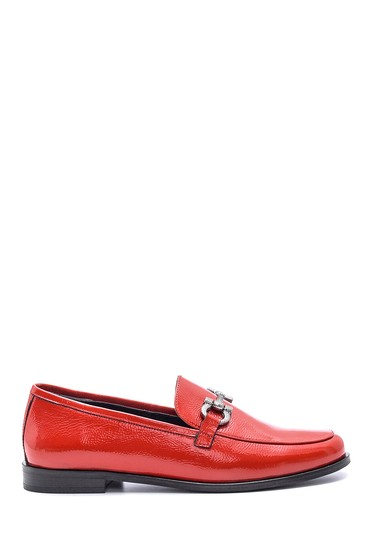 Kırmızı Kadın Rugan Deri Loafer 5638092655