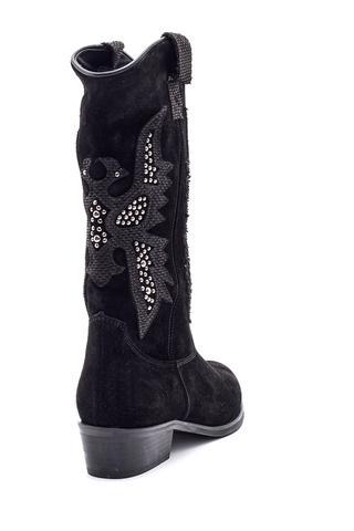 Kadın Süet Deri Kovboy Çizme