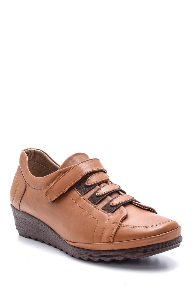 5638091446 Kadın Deri Bantlı Ayakkabı