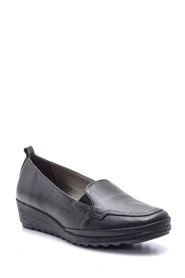 Siyah Kadın Deri Ayakkabı 5638091466