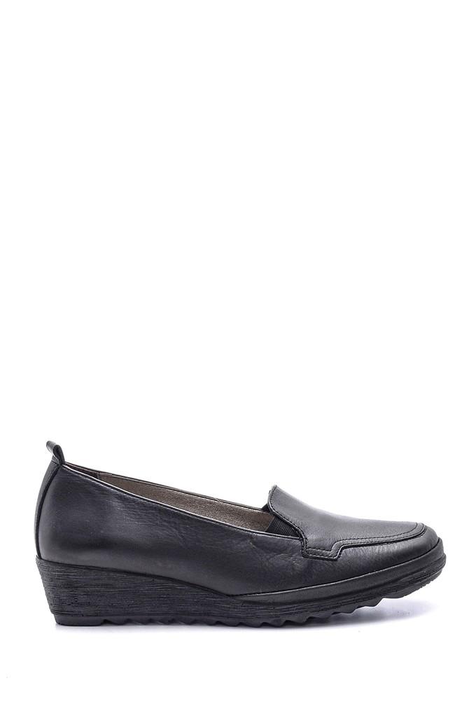 Siyah Kadın Deri Ayakkabı 5638091474
