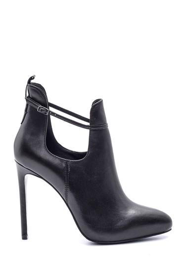 Siyah Kadın Deri Topuklu Ayakkabı 5638114911