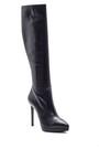 5638114981 Kadın Topuklu Deri Çizme