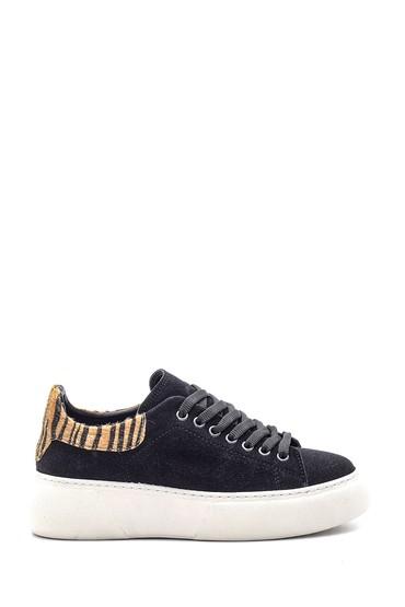 Siyah Kadın Süet Sneaker 5638118861
