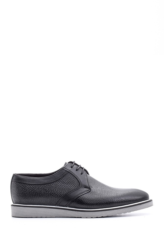 Siyah Erkek Deri Ayakkabı 5638080084