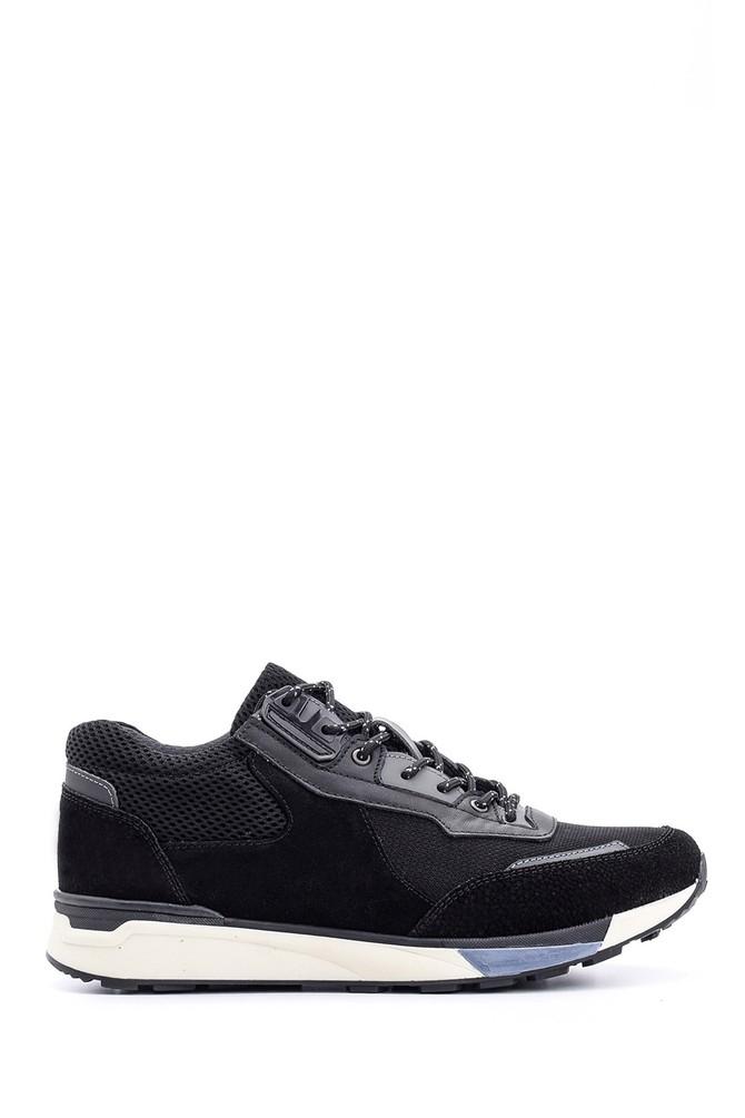 Siyah Erkek Süet Deri Sneaker 5638090016