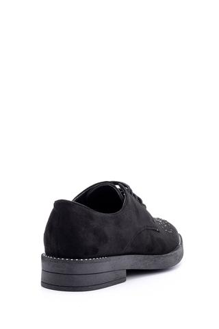 Kadın Süet Taş Detaylı Ayakkabı
