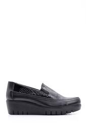 5638087138 Kadın Dolgu Topuklu Deri Ayakkabı