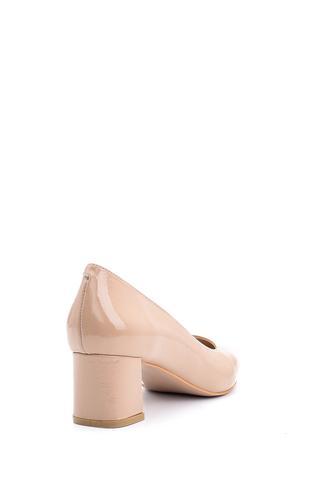 Kadın Topuklu Rugan Deri Ayakkabı