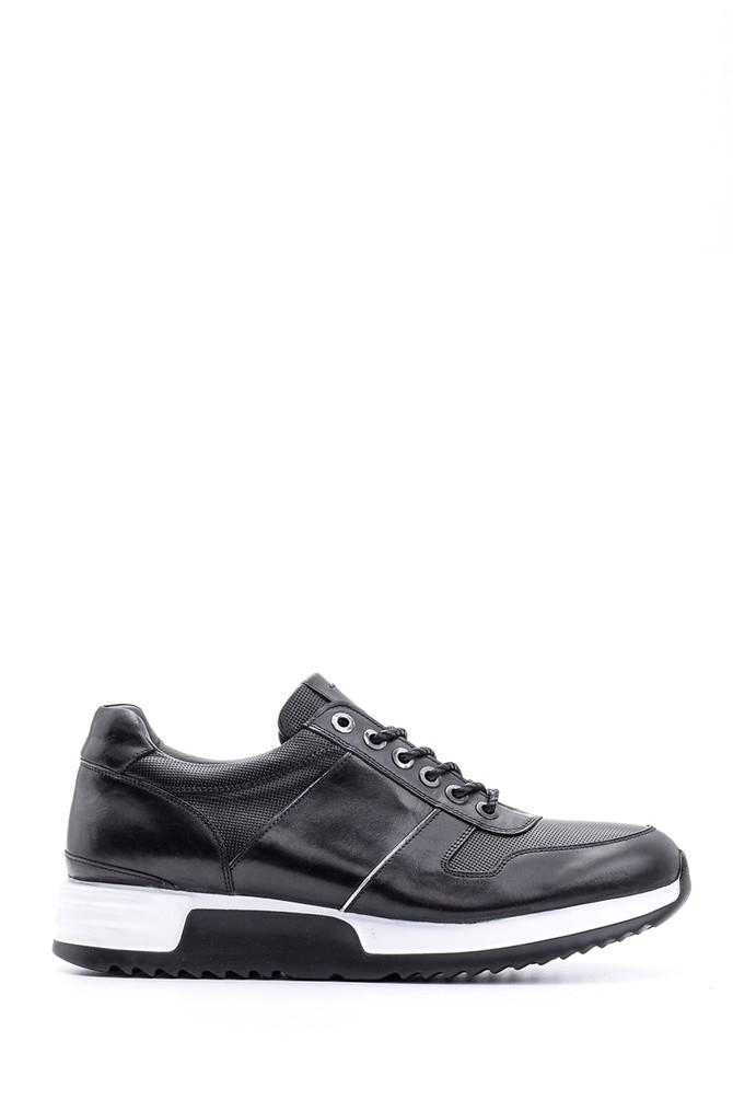 Siyah Erkek Casual Deri Sneaker 5638094839