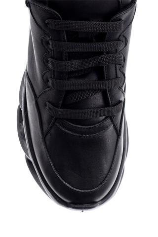 Kadın Taban Detaylı Deri Sneaker