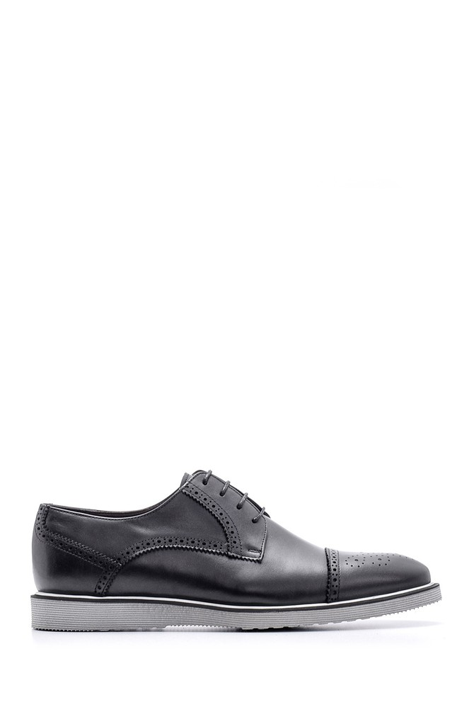 Siyah Erkek Casual Deri Ayakkabı 5638095682