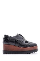 5638094065 Kadın Yıldız Desenli Dolgu Topuklu Ayakkabı