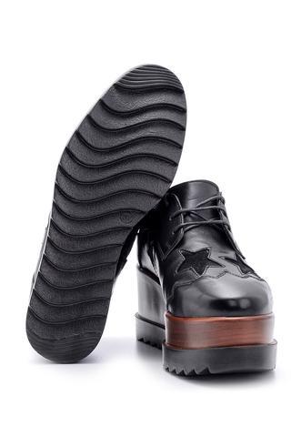 Kadın Yıldız Desenli Dolgu Topuklu Ayakkabı