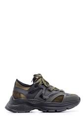5638094661 Erkek Süet Detaylı Deri Sneaker