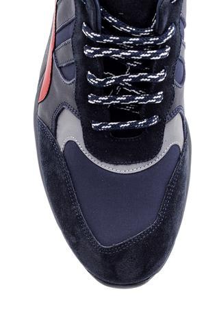Erkek Şeffaf Tabanlı Deri Sneaker