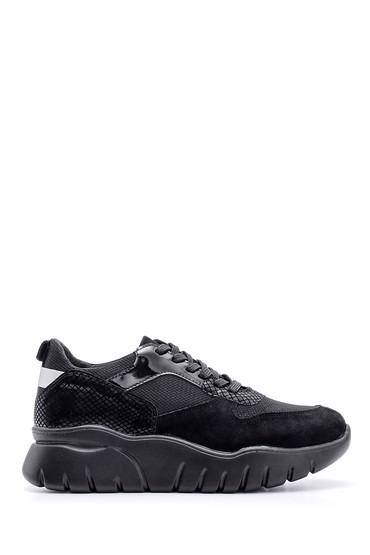 5638116017 Kadın Süet Detaylı Sneaker