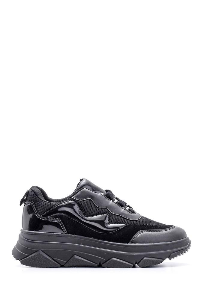 Siyah Kadın Yüksek Tabanlı Sneaker 5638112121