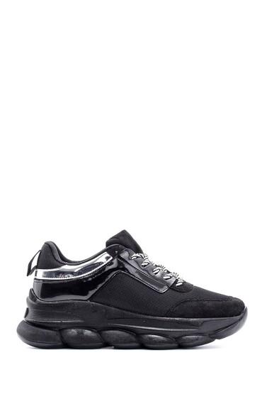 5638112139 Kadın Yüksek Tabanlı Rugan Detaylı Sneaker
