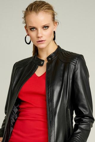 Janet Kadın Deri Ceket