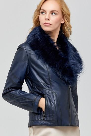 5638100916 Tisha Kadın Deri Ceket