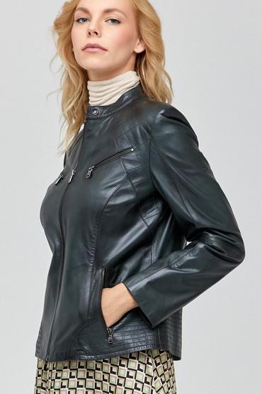 Yeşil Lucky Kadın Deri Ceket 5638100910