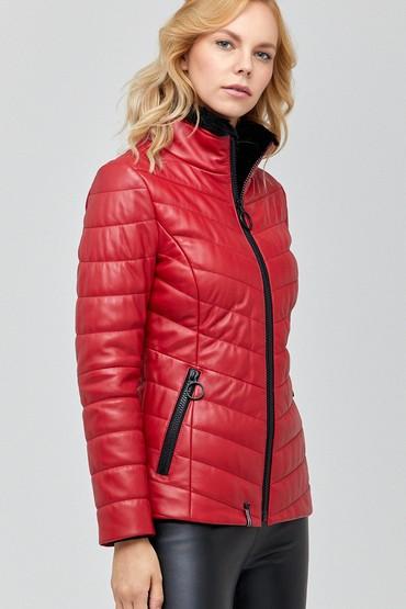 Kırmızı Mirage Kadın Deri Ceket 5638113612