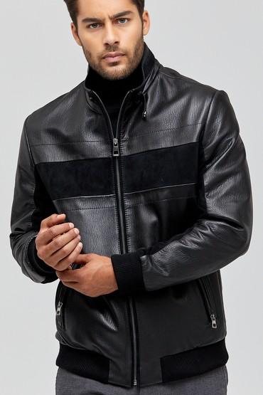 Siyah Pepe Erkek Deri Ceket 5638113619
