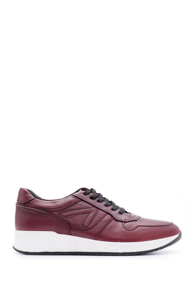 Bordo Erkek Deri Sneaker 5638083420
