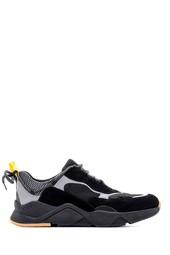 5638094749 Erkek Süet Detaylı Deri Sneaker