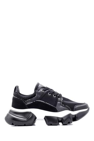 Siyah Kadın Yüksek Tabanlı Sneaker 5638090297
