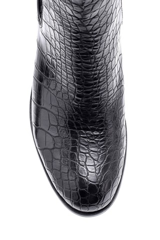 Kadın Kroko Desenli Topuklu Bot