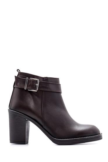 Kahverengi Kadın Toka Detaylı Topuklu Bot 5638087860