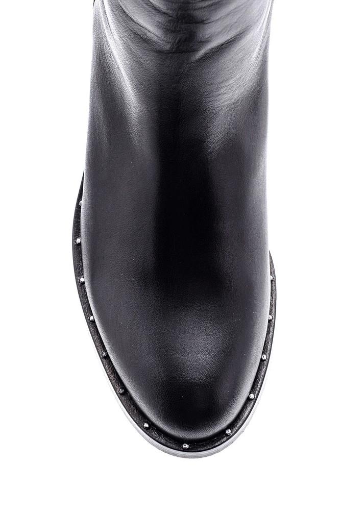 5638087996 Kadın Topuklu Deri Çizme