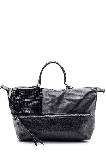 Siyah Kadın Taş Detaylı Çanta 5638101586