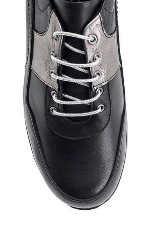 Kadın Dolgu Topuklu Deri Ayakkabı