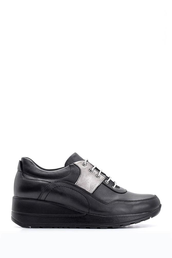 Siyah Kadın Dolgu Topuklu Deri Ayakkabı 5638087168