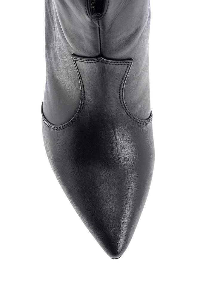 5638093569 Kadın Topuklu Deri Bot
