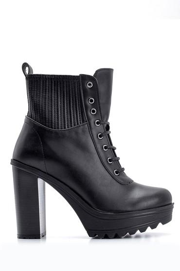 Siyah Kadın Topuklu Bot 5638102093