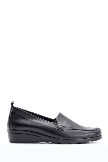 Siyah Kadın Deri Ayakkabı 5638116566