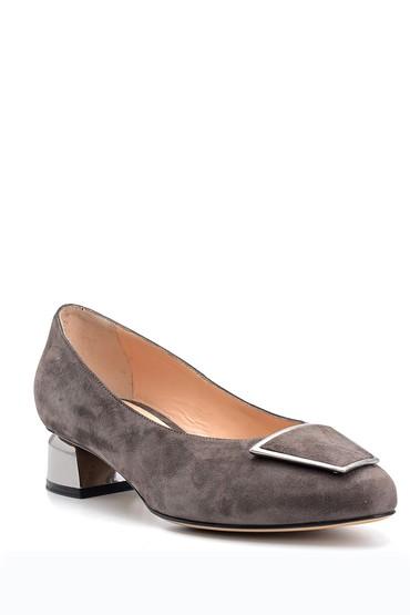 Kahverengi Kadın Süet Deri Topuklu Ayakkabı 5638122603