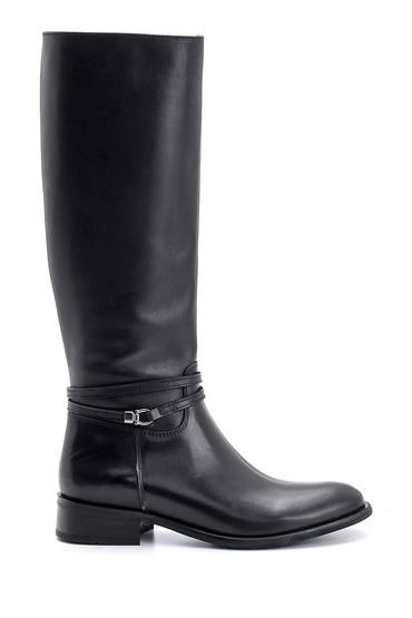 Siyah Kadın Deri Çizme 5638091391