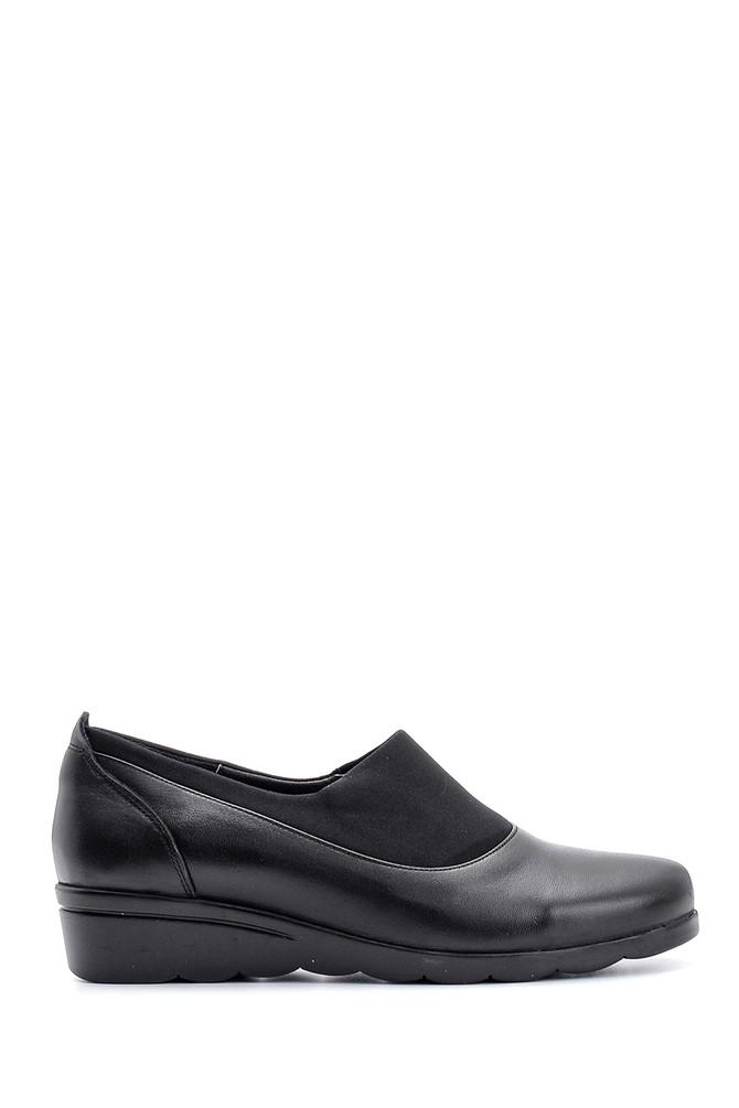 Siyah Kadın Deri Ayakkabı 5638087130