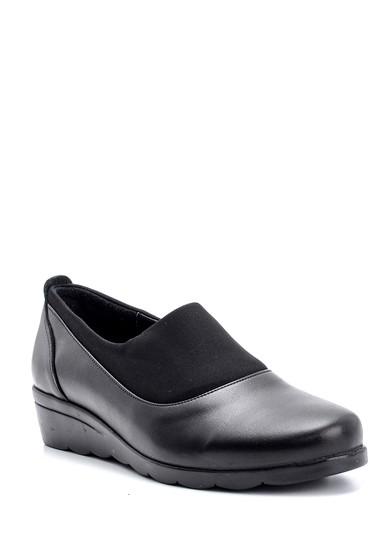 Siyah Kadın Deri Ayakkabı 5638087124