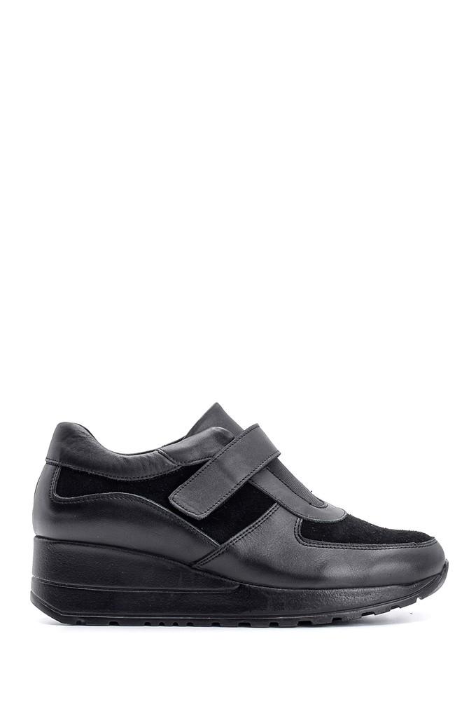 Siyah Kadın Bantlı Deri Ayakkabı 5638087158