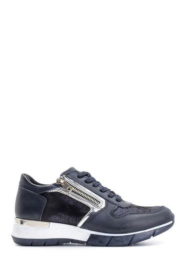 Lacivert Kadın Fermuar Detaylı Sneaker 5638101669