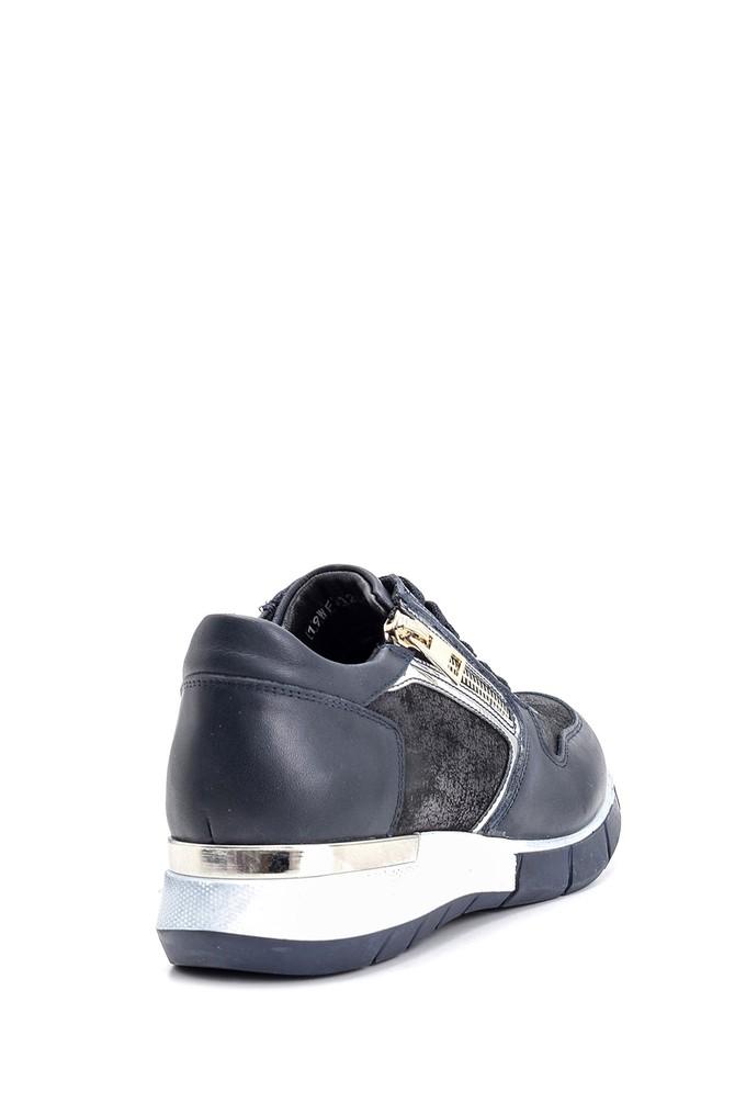 5638101671 Kadın Fermuar Detaylı Sneaker