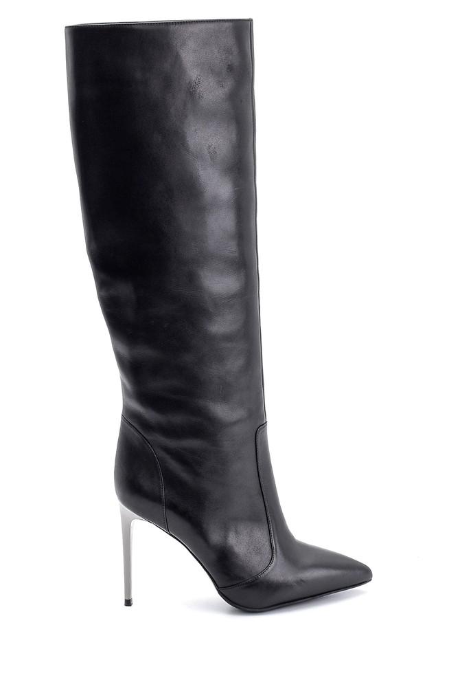 Siyah Kadın Topuklu Çizme 5638098337