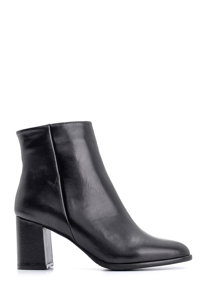 Siyah Kadın Topuklu Deri Bot 5638102150